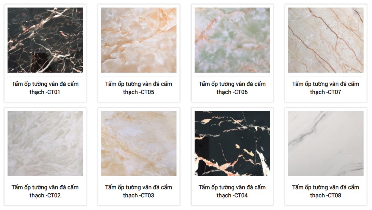 Đại lý bán tấm ốp tường PVC vân đá Bình Dương